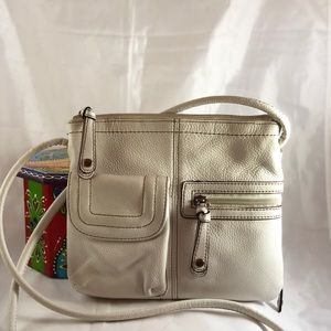 Tinganello white leather crossbody